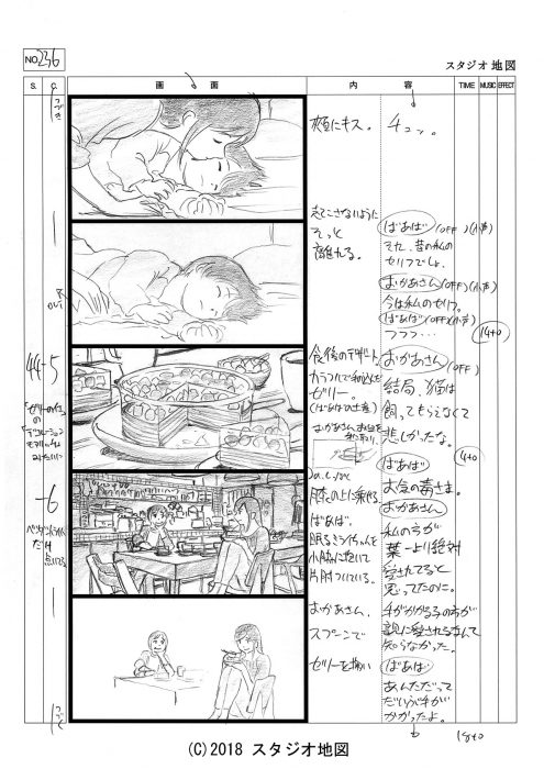 未来のミライ(絵コンテ)